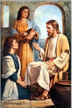 Gesù, Maria e Marta